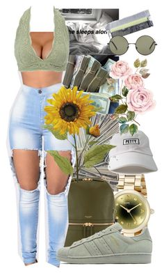 """""""Untitled #185"""" by cashy-x ❤ liked on Polyvore featuring Marc by Marc Jacobs, Forever 21, Henri Bendel, Charlotte Russe and adidas Originals"""
