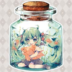 ✿ Vocaloid Clear Acrylic Charm: Bottle Miku ✿ · ✿ Requi ✿ · Online Store Powered by Storenvy