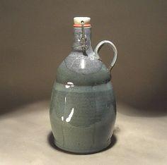 Handmade custom stoneware pottery flip top by JonWhitneyPottery