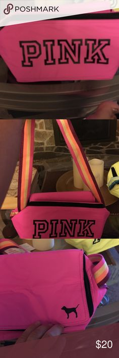 Pink lunch bag. NWOT Cute lunch bag for the girls for school! Shoulder strap. Brand new! PINK Victoria's Secret Other