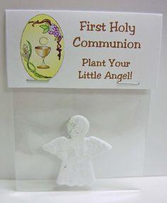 Mini Wildflower Angel Communion Favor Handout. $1.65, via Etsy.