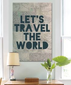 This 'Travel The World' Canvas is perfect! #zulilyfinds