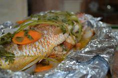 Cómo hacer pargo relleno de camarones empapelado - CHUCHEMAN1 - 2013