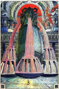 Fantasy - Surrealism - Other Art Dcc Rpg, Arte Sci Fi, Heavy Metal Art, 70s Sci Fi Art, Bd Comics, Science Fiction Art, Fantasy Illustration, Illustrations, Art Graphique