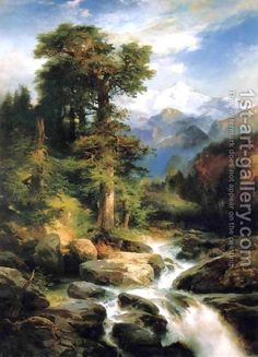 """""""Solitude by Thomas Moran"""" by : Solitude by Thomas Moran from the Hudson River School of American Art collection. Landscape Art, Landscape Paintings, Edward Moran, Thomas Moran, Hudson River School, Ouvrages D'art, Oil Painting Reproductions, American Art, Painting & Drawing"""