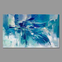Peinture abstraite Turquoise bleu vertpeinture originale