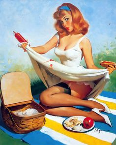vintage-pin-up-girl. If I get a pin-up girl tatt this might have to be the one...I'm known for food stains... :S