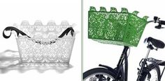 Carrie bike basket: it detaches so you can take it into the grocery store.
