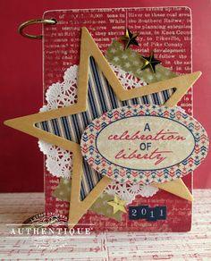 Pride Mini Album by Authentique Paper Guest Designer Tessa Buys