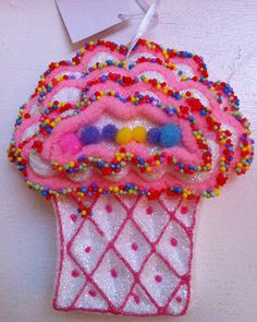 Candyland Inspired Pink Cupcake Muffin Ornament Christmas Birthday Decoration | eBay