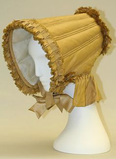 Bonnet 1804, American, Made of silk and cotton