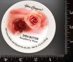 "1 , Container, of, Raspberry Rose , Shea Butter, the Ultra Moisturizing, Shea Butter, Cream, by, Time & Again, about 4.2 oz. (120g), per Container, about 3.6"", or 92mm Wide x 1.5""or 39mm Tall , http://www.amazon.com/dp/B004LYD6LG/ref=cm_sw_r_pi_dp_YFJpsb0Z97N8W"
