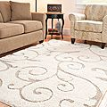"""Ultimate Cream/Beige Shag Area Rug (5'3"""" x 7'6"""")   Overstock.com Shopping - The Best Deals on 5x8 - 6x9 Rugs"""