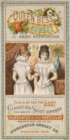 Queen Bess Corset and Skirt Supporter // Worcester Corset Co., Worchester, Mass. // Victorian ad
