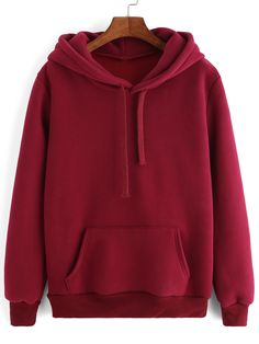 To find out about the Burgundy Hooded Long Sleeve Pockets Sweatshirt at SHEIN, part of our latest Sweatshirts ready to shop online today! Trendy Hoodies, Cute Sweatshirts, Hooded Sweatshirts, Pullover Hoodie, Hoodie Jacket, Sweater Hoodie, Red Hoodie, Hoody, Cute Comfy Outfits