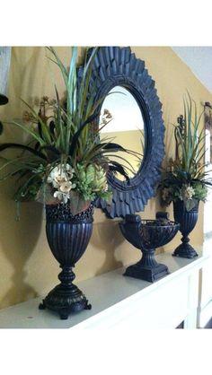 Silk floral arrangement  Mantel Vigilant