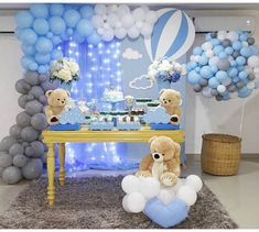 Being a baby shower hostess doesn't have to be stressful! Relax, put your feet up, and get ready to host the cutest baby shower party ever! Idee Baby Shower, Cute Baby Shower Ideas, Baby Shower Decorations For Boys, Boy Baby Shower Themes, Baby Shower Balloons, Baby Shower Gender Reveal, Baby Shower Parties, Baby Boy Shower, Baby Boy Birthday Decoration