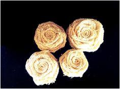 burlap flowers for flower girl baskets...@Mary-Alys Bush