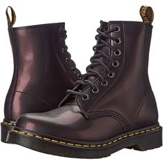 Dr. Martens 1460 Women's Lace-up Boots (€120) ❤ liked on Polyvore featuring shoes, boots, dr martens boots, lace up shoes, lacing boots, genuine leather boots and front lace up boots