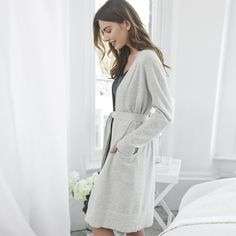 Is there anything more wonderfully indulgent than a pure-cashmere dressing gown? Cashmere Sweaters, The White Company, Clothes For Sale, Nightwear, Gowns, Elegant, How To Wear, Dresses