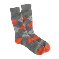 Dress socks - I wear a size 10 shoe.  Various colors.