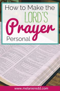 How to make the Lord's Prayer personal