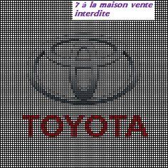 grille gratuite, le logo de Toyota - Le blog de 7 à la maison, point de croix, tricot, grilles gratuites... Logos, Logo Branding, Toyota Emblem, Rainy Day Crafts, Beading Tools, Care Logo, Le Point, Key Chains, Plastic Canvas