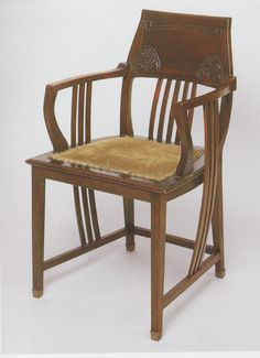 Antieke stoelen Mahoniehouten bureaustoel Schotland ca