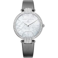 Harry Winston Premier Ladies Automatic 36mm prnahm36ww001 Watch (369.507.500 IDR) ❤ liked on Polyvore featuring jewelry, watches, white gold jewelry, bezel watches, harry winston watches, white gold jewellery and crown jewelry