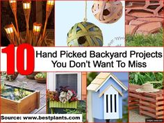10 Hand Picked Backyard Projects You Don't Want To Miss...For more creative tips and ideas FOLLOW https://www.facebook.com/homeandlifetips