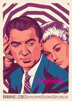 Vertigo - movie poster - Mike Wrobel
