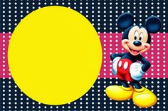 Mickey Red, Black and Yellow: Free Printable Invitations and Party Printables.