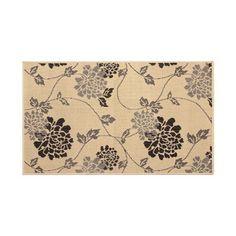 "Laura Ashley Home Jaya Stencil Chrysanthemum Beige Indoor/Outdoor Area Rug Rug Size: 2'3"" x 3'9"""