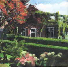 """The Old Ferry House"" Original Oil on canvas Erica Hyatt. Oldeneel, The Netherlands Original Paintings, Original Art, Light And Shadow, Cool Art, Awesome Art, House Painting, Artwork Online, Netherlands, Oil On Canvas"