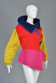 1983 1984 Kansai Yamamoto colorblock neoprene avant garde jacket