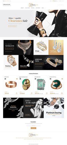Template 61179 - Jewelrix Jewelry  Responsive PrestaShop  Theme