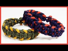 "Paracord Bracelet: ""Dizzy XXX"" Bracelet Design Without Buckle - YouTube"