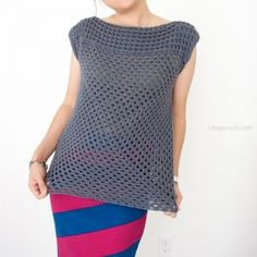 Simple granny squares make a beautiful modern shirt