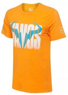 Nike Vamos Rafa Tennis Crew Shirt Mens L Vivid Orange 850860 868 Nadal #Nike #ShirtsTops