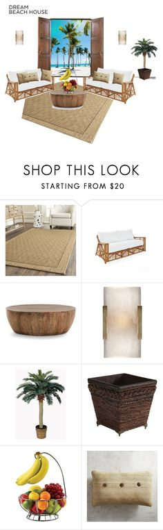 """""""Dream Beach House"""" by blue-s-worldview ❤ liked on Polyvore featuring interior, interiors, interior design, home, home decor, interior decorating, Safavieh, Serena & Lily, Arteriors and Nearly Natural"""