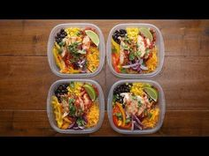 17 Healthy Grain Bowls You Should Make For Dinner, including this one for chicken burrito bowl meal prep