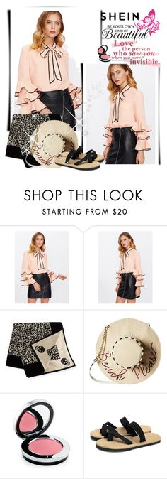"""""""Bow blouse"""" by preppy-patricia ❤ liked on Polyvore featuring Alexander McQueen, Betsey Johnson and Rodial"""