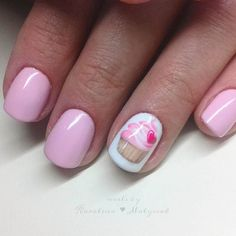 #manicure #nails #valentines #nailart #handpainted #pink #cupcake #muffin #micropainting #paznokcie #hybrydowe #pazurki Valentine Day Cupcakes, Valentines, Home Brewing Beer, Color Combos, Nail Art Designs, Hand Painted, Nailart, Muffin, Photo And Video