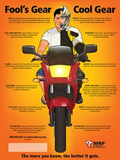 The Motorcycle Safety Foundation breaks it down - what are you wearing? http://online2.msf-usa.org/msf/downloads/fools-gear-cool-gear-poster.pdf