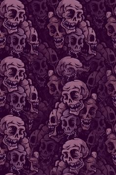 Purple Skulls wallpaper