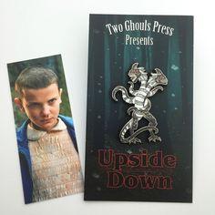 Upside Down - Lapel Pin enamel pin flair two ghouls press