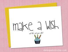 Make-a-wish Birthday Card