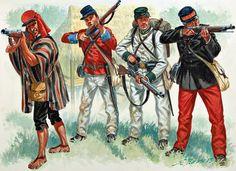 MAA 504 Military Diorama, Military Art, Military Uniforms, Army History, World History, American War, American History, Lwa Anime, War Of The Pacific