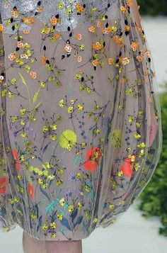 Beautiful embroidery detail at Christian Dior Haute Couture, S/S '13.