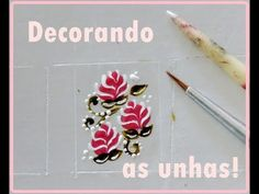 #52 Várias Flores    Por Vanessa Carneiro - YouTube Fabric Painting, Pedicure, You Nailed It, My Design, Nail Designs, Nail Art, Stickers, Nails, How To Make